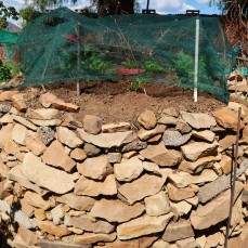 side of a key-hole garden, photo by Kelly Benning