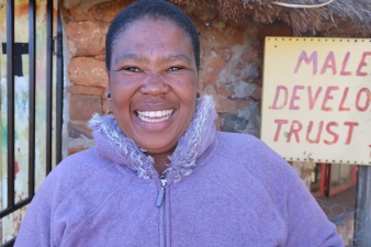 Maphakiso Kelepa - Social Care Worker, photo by Kelly Benning